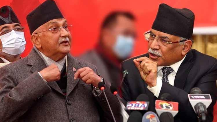 पुष्प कमल दहल प्रचंड एवं केपी शर्मा ओली. नेपाल के इन दो दिग्गज नेताओं के मध्य इन दिनों सत्ता संघर्ष बढ़ गया है.