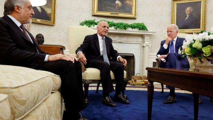 अफगानिस्तान के राष्ट्रपति अशरफ गनी ने बिडेन से मुलाकात की