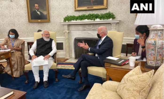 प्रधानमंत्री नरेंद्र मोदी आज जो बाइडन से मिलेंगे
