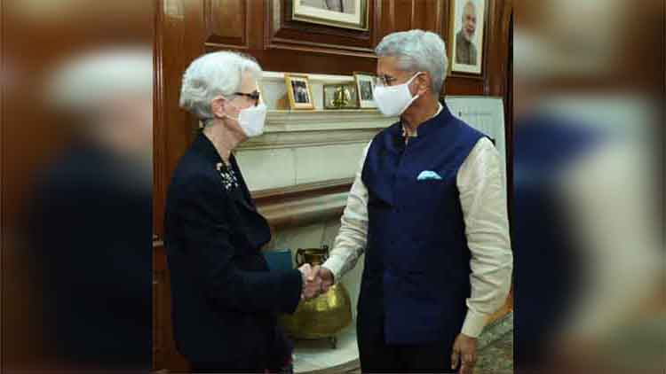 अमेरिका की उप विदेश मंत्री वेंडी शर्मन ने विदेश मंत्री एस. जयशंकर से मुलाकात की।