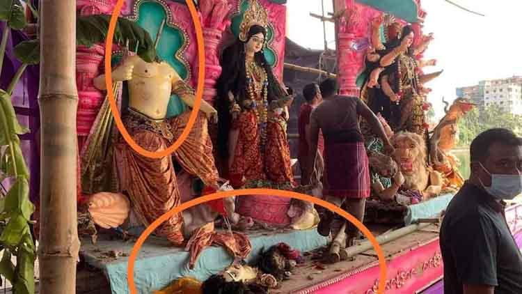 दुर्गा पूजा के पंडालों पर हमला